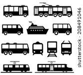 bus  ship  train public... | Shutterstock .eps vector #208491046