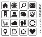 website and internet icons   Shutterstock .eps vector #208493140