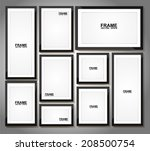 picture frame vector. photo art ... | Shutterstock .eps vector #208500754
