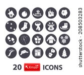 winter icons set scarf  winter... | Shutterstock .eps vector #208503283