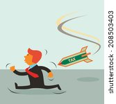 young businessman ran for tax... | Shutterstock .eps vector #208503403