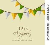 celebrations ribbons in... | Shutterstock .eps vector #208513210