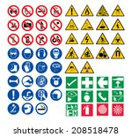 all safety signs vector  | Shutterstock .eps vector #208518478