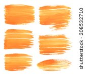 hand drawn thick wet orange... | Shutterstock .eps vector #208532710