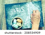 Colorful Macaroons With Retro...