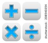 math symbols | Shutterstock .eps vector #208540354
