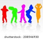 boy silhouette | Shutterstock .eps vector #208546930