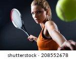 portrait of beautiful woman... | Shutterstock . vector #208552678