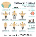 muscle fitness build up your...   Shutterstock .eps vector #208552816