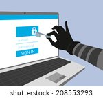 hacking account of social... | Shutterstock .eps vector #208553293