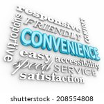 convenience 3d word collage...   Shutterstock . vector #208554808