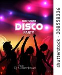 disco party poster   vector... | Shutterstock .eps vector #208558336