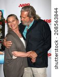 Small photo of LOS ANGELES - AUG 1: Susan Bridges, Jeff Bridges at the AARP Luncheon IHO Jeff Bridges at the Spago on August 1, 2014 in Beverly Hills, CA