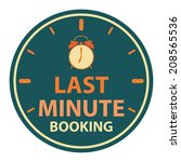 last minute booking with... | Shutterstock . vector #208565536