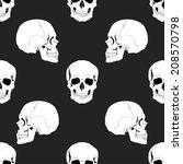 seamless skulls pattern | Shutterstock .eps vector #208570798