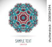 mandala. round ornament pattern.... | Shutterstock .eps vector #208584394