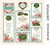 set of wedding cards. wedding... | Shutterstock .eps vector #208593928