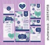set of wedding cards. wedding... | Shutterstock .eps vector #208593958