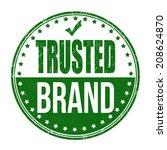trusted brand grunge rubber... | Shutterstock .eps vector #208624870