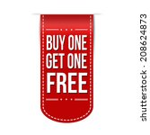 buy one get one free banner... | Shutterstock .eps vector #208624873