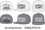 rap cap  front  back and side... | Shutterstock .eps vector #208625914