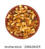 Top View Of Dried Orange Peel...