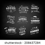 set of vintage retro summer... | Shutterstock .eps vector #208637284