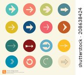 new arrow icon vector vintage... | Shutterstock .eps vector #208638424
