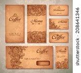 coffee concept design   Shutterstock .eps vector #208641346