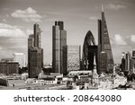 london city rooftop view with... | Shutterstock . vector #208643080