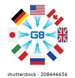 g8 summit   Shutterstock .eps vector #208646656