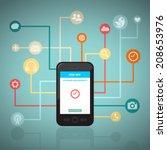 smart network  | Shutterstock .eps vector #208653976