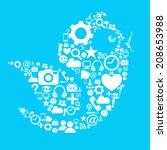 social media bird   Shutterstock .eps vector #208653988