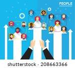 people icon conceptual vector... | Shutterstock .eps vector #208663366