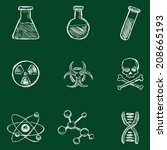 vector set of sketch chemistry ... | Shutterstock .eps vector #208665193