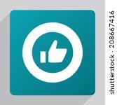flat ok icon  white on green...   Shutterstock .eps vector #208667416