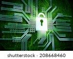 conceptual image of micro... | Shutterstock . vector #208668460
