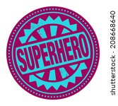 abstract stamp or label with...   Shutterstock .eps vector #208668640