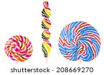 bright colorful lollipop set... | Shutterstock . vector #208669270