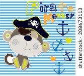 Pirate Monkey Striped...