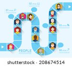 People Icon Conceptual Vector...