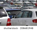view of parked car in crowded... | Shutterstock . vector #208681948