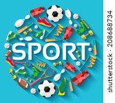 circular concept of sports... | Shutterstock .eps vector #208688734