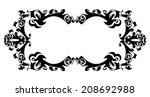 illustration of abstract frame... | Shutterstock . vector #208692988