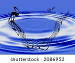 design depicting the blues in... | Shutterstock . vector #2086952