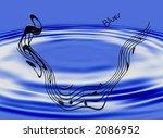 design depicting the blues in... | Shutterstock . vector #2086952