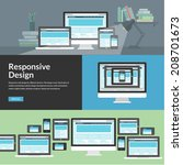 responsive web design for... | Shutterstock .eps vector #208701673