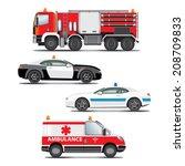 set of emergency transport... | Shutterstock .eps vector #208709833