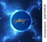 lightning vector background.... | Shutterstock .eps vector #208709929