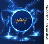 lightning vector background....   Shutterstock .eps vector #208709959